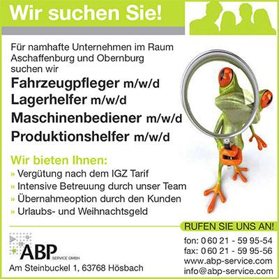 Fuer namhafte Unternehmen in Aschaffenburg und Obernburg am Main suchen wir Fahrzeugpfleger, Lagerhelfer, Maschinenbediener und Produktionshelfer (m/w)